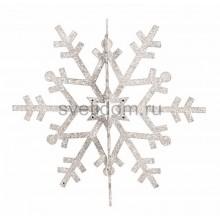 Елочная фигура Снежинка резная 3D, 46 см, цвет белый Neon-Night 502-355