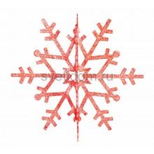 Елочная фигура Снежинка резная 3D, 61 см, цвет красный Neon-Night 502-362