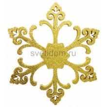 Елочная фигура Снежинка Морозко, 66 см, цвет золотой Neon-Night 502-371