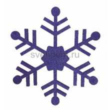 Елочная фигура Снежинка классическая, 66 см, цвет синий Neon-Night 502-373