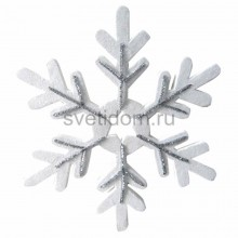Елочная фигура Снежинка сказочная 40 см, цвет серебряный Neon-Night 502-389