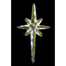 """Фигура """"Звезда 8-ми конечная"""", LED подсветка высота 180см, бело-золотая Neon-Night 506-244"""