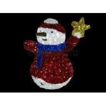 "Фигура ""Снеговик со звездой"", LED подсветка высота 150см (+транс.) Neon-Night 506-283"
