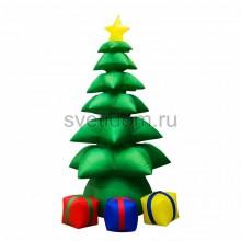 """3D фигура надувная """"Подарки под Елкой"""", размер 240 см, внутренняя подсветка 5 ламп, компрессор с адаптером 12В, IP44 Neon-Night 511-043"""