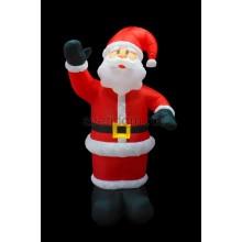 """3D фигура надувная """"Дед Мороз приветствует"""", размер 240 см, внутренняя подсветка 5 ламп, компрессор с адаптером 12В, IP44 Neon-Night 511-112"""