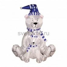 """3D фигура надувная """"Медведица с медвежонком"""", размер 180 см, внутренняя подсветка 2 лампы, компрессор с адаптером 12В, IP44 Neon-Night 511-205"""