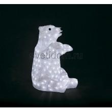 """Акриловая светодиодная фигура Белый медведь"""" 36х41х53 см, 200 светодиодов, IP44, понижающий трансформатор в комплекте Neon-Night 513-249"""
