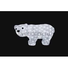 """Акриловая светодиодная фигура """"Белый мишка"""" 15х25 см, 4,5 В, 3 батарейки AA (не входят в комплект), 24 светодиодов Neon-Night 513-252"""