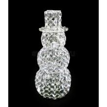 """Фигура стеклянная """"Снеговик"""" 50см 60 светодиодов, IP44 понижающий трансформатор в комплекте Neon-Night 513-262"""