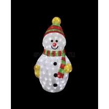 """Акриловая светодиодная фигура """"Снеговик с шарфом"""" 60 см, 200 светодиодов, IP 44, понижающий трансформатор в комплекте Neon-Night 513-274"""