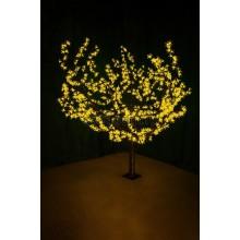 """Светодиодное дерево """"Сакура"""" высота 1,5м, диаметр кроны 1,8м, желтые светодиоды, IP54, понижающий трансформатор в комплекте Neon-Night 531-101"""