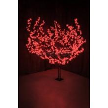 """Светодиодное дерево """"Сакура"""", высота 1,5м, диаметр кроны 1,8м, красные светодиоды, IP54, понижающий трансформатор в комплекте Neon-Night 531-102"""