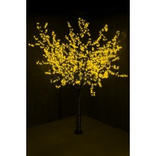 """Светодиодное дерево """"Сакура"""", высота 2,4м, диаметр кроны 2,0м, желтые светодиоды, IP54, понижающий трансформатор в комплекте Neon-Night 531-121"""