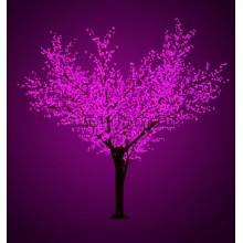 """Светодиодное дерево """"Сакура"""", высота 3,6м, диаметр кроны 3,0м, фиолетовые светодиоды, IP64, понижающий трансформатор в комплекте Neon-Night 531-216"""