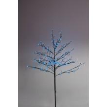 """Дерево комнатное """"Сакура"""", коричневый цвет ствола и веток, высота 1.2 метра, 80 светодиодов синего цвета, трансформатор IP44 Neon-Night 531-243"""