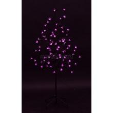 """Дерево комнатное """"Сакура"""", коричневый цвет ствола и веток, высота 1.2 метра, 80 светодиодов розового цвета, трансформатор IP44 Neon-Night 531-248"""