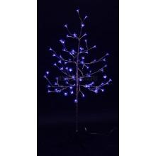 """Дерево комнатное """"Сакура"""", ствол и ветки фольга, высота 1.2 метра, 80 светодиодов синего цвета, трансформатор IP44 Neon-Night 531-253"""