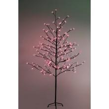"""Дерево комнатное """"Сакура"""", коричневый цвет ствола и веток, высота 1.5 метра, 120 светодиодов красного цвета, трансформатор IP44 Neon-Night 531-262"""