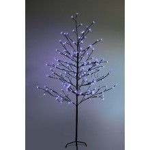 """Дерево комнатное """"Сакура"""", коричневый цвет ствола и веток, высота 1.5 метра, 120 светодиодов синего цвета, трансформатор IP44 Neon-Night 531-263"""