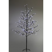 """Дерево комнатное """"Сакура"""", коричневый цвет ствола и веток, высота 1.5 метра, 120 светодиодов белого цвета, трансформатор IP44 Neon-Night 531-265"""