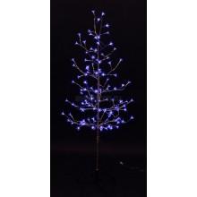 """Дерево комнатное """"Сакура"""", ствол и ветки фольга, высота 1.5 метра, 120 светодиодов синего цвета, трансформатор IP44 Neon-Night 531-273"""