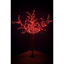 """Светодиодное дерево """"Сакура"""", высота 2,4 м, диаметр кроны 1,72м, красные диоды, IP 44, понижающий трансформатор в комплекте Neon-Night 531-322"""