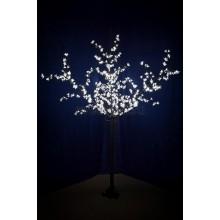 """Светодиодное дерево """"Сакура"""", высота 2,4 м, диаметр кроны 1,72м, белые диоды, IP 44, понижающий трансформатор в комплекте Neon-Night 531-325"""