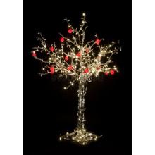 """Светодиодное дерево """"Яблоня"""", высота 1.2м, 8 красных яблок, тепло-белые светодиоды, IP 54, понижающий трансформатор в комплекте Neon-Night 531-401"""