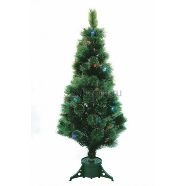 Новогодняя Ель Сосна, фибро-оптика , фибро-оптика, 120 см, 83 ветки, с декоративными украшениями Neon-Night 533-203