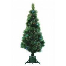 Новогодняя Ель Сосна, фибро-оптика 150 см, 115 веток, с декоративными украшениями Neon-Night 533-205
