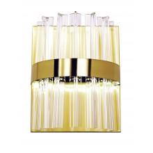 Светодиодное бра нимб Natali Kovaltseva LED LAMPS 81100/1W 35W золото 3200/4300/6500K с пультом