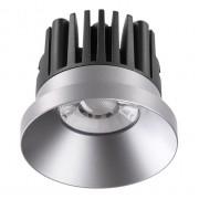 Встраиваемый светодиодный светильник Novotech Metis 357587 серебро 10 Вт 100-265V IP44 3000K