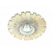 Точечный светильник Novotech 370325 Pattern ф140 мм белый, золото