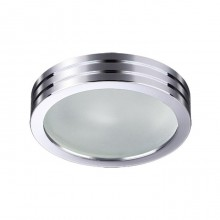 Встраиваемый светильник Novotech Damla 370388 хром 50 Вт 12V IP44