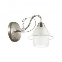 Бра Lumion 3685/1W Brittany матовый никель/стекло E14 40 Вт