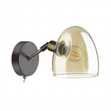 Бра c выключателем Lumion 4434/1W Noah коричневый, латунь, стекло E14 1*40 Вт
