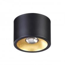 Потолочный накладной светильник Odeon Light 3878/1CL Glasgow черный с золотом GU10 50 Вт