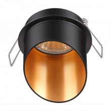 Встраиваемый светильник Novotech 370435 Butt черный GU10 50 Вт