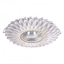 Встраиваемый светильник Novotech 370489 Pattern белый/золото GU10 50 Вт