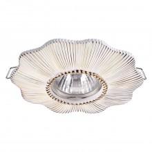 Встраиваемый светильник Novotech 370491 Pattern белый/золото GU10 50 Вт