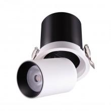 Встраиваемый светодиодный светильник Novotech 358081 Lanza белый/черный LED 12 Вт 3000K