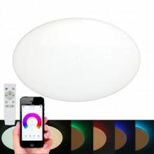 Люстра музыкальная Omnilux OML-47337-48 Melofon Белый LED 3000-6500K+RGB (в потолок) 48 Вт с пультом