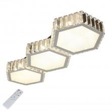 Потолочный светильник светодиодный Omnilux OML-00117-120 Sottana Хром LED 72 Вт 3000-4200К с пультом