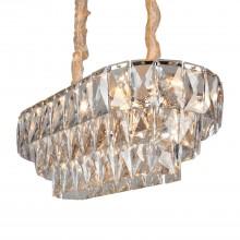 Подвесная люстра с хрусталем Omnilux OML-81603-16 Reggiolo золото E14 40 Вт