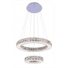 Люстра подвесная светодиодная с пультом Omnilux OML-46603-128 Sorso хром 128 Вт