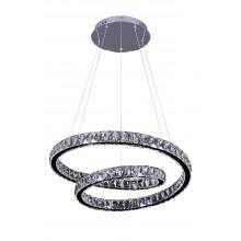 Люстра подвесная светодиодная с пультом Omnilux OML-46903-86 Zuari хром 86 Вт 4200К