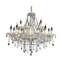 Люстра подвесная хрустальная Omnilux OML-70103-15 Bonaita прозрачный+золото