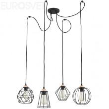Светильники в стиле Лофт Lighting 1646 Galaxy 4 чёрный