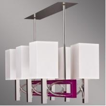 Люстра подвесная Kemar RIFFTA RF/6/V фиолетовый, хром