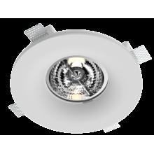 Врезной гипсовый светильник Roden RD-254 ф222 мм AR-111